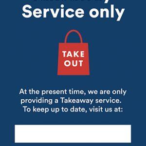 A4 Poster - Takeaway Service
