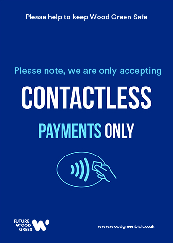 Contactless Only Poster