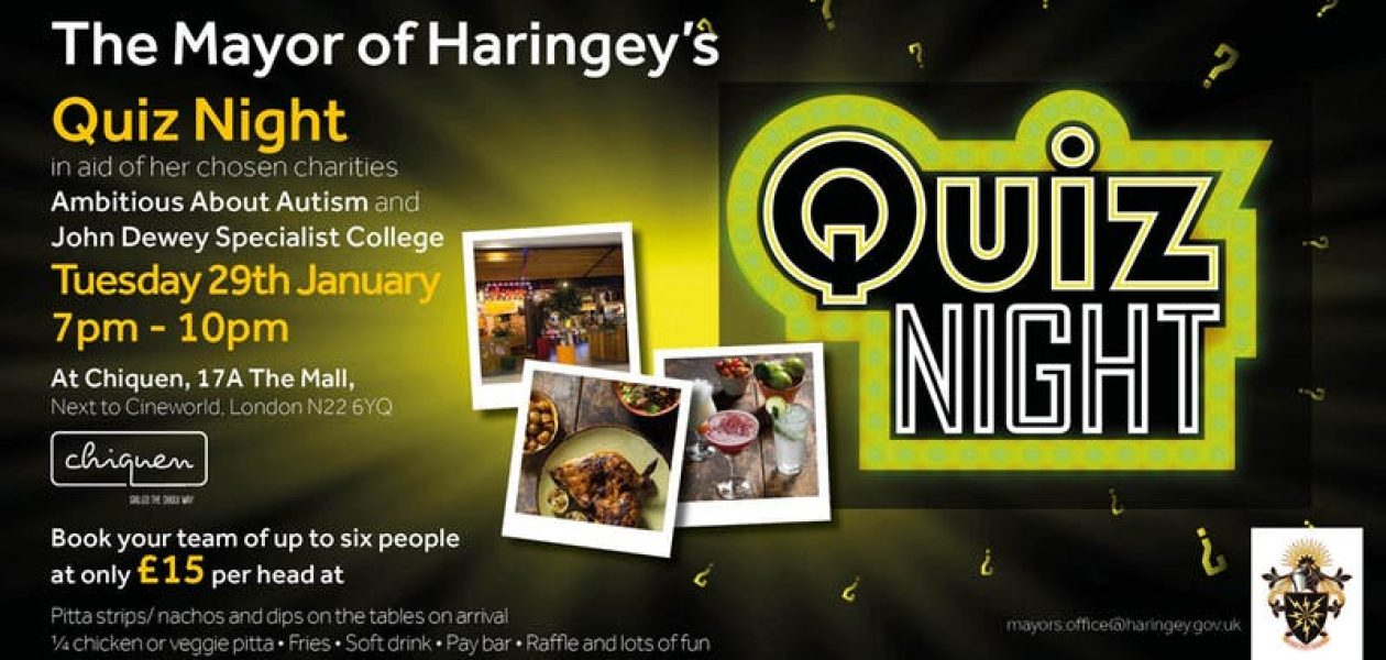 The Mayor of Haringey's Quiz Night